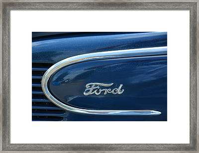 1939 Ford Emblem Framed Print