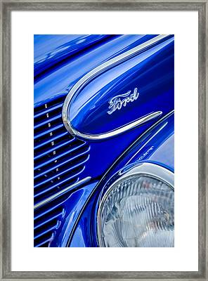 1939 Ford Woody Wagon Side Emblem Framed Print