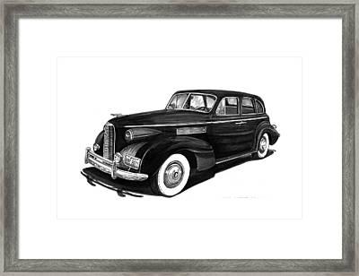 1939 Lasalle Sedan Framed Print by Jack Pumphrey