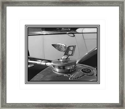 1939 M K 4 Bentley Flying B Mascot Framed Print by Jack Pumphrey