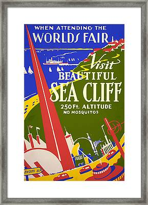 Framed Print featuring the painting 1939 Sea Cliff - Worlds Fair Celebration by American Classic Art