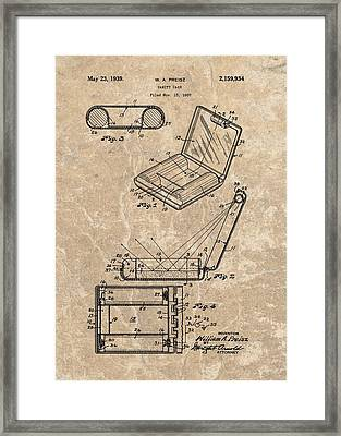 1939 Vanity Case Patent Framed Print by Dan Sproul