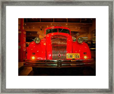 1939 World's Fair Fire Engine Framed Print