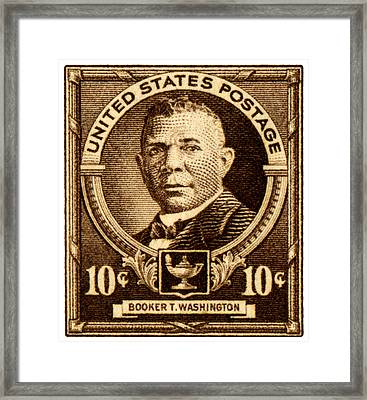 1940 Booker T. Washington Stamp Framed Print by Historic Image