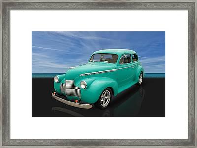 1940 Chevrolet Special Deluxe 2 Door Sedan Framed Print by Frank J Benz