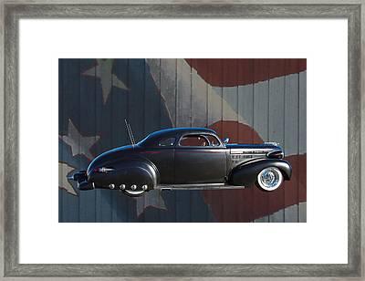 1940 Chevrolet American Flag Framed Print