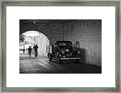 1940 Chevrolet Pickup Truck In Alcatraz Prison Framed Print by RicardMN Photography