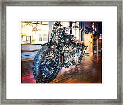 Framed Print featuring the photograph 1940 Crocker Big Tank by Steve Benefiel