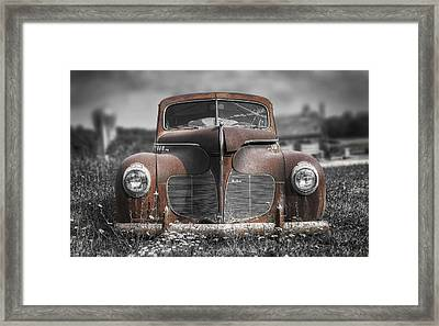1940 Desoto Deluxe With Spot Color Framed Print by Scott Norris