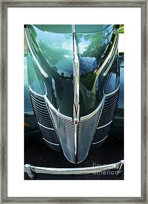 Framed Print featuring the photograph 1940 Ford Classic Deluxe Two Door Sedan V-8 by Jerry Cowart