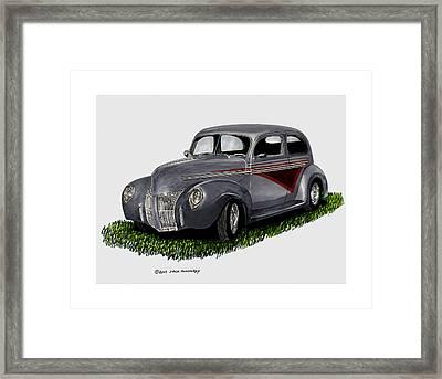 1940 Ford Custom Street Rod Framed Print by Jack Pumphrey