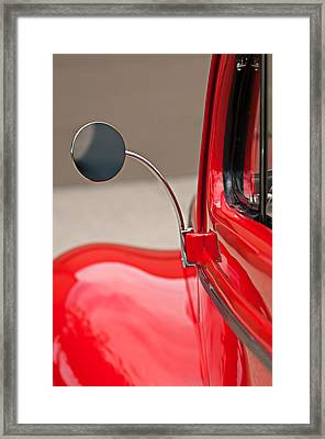 1940 Ford Deluxe Coupe Rear View Mirror Framed Print