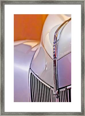 1940 Ford Hood Ornament Framed Print