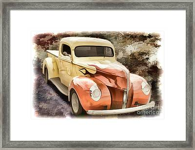 1940 Ford Pickup Truck Painting Car Or Automobile In Color  3133 Framed Print