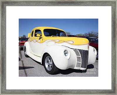 1940 Ford Two Door Coup Delux Framed Print