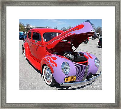 1940 Ford Two Door Sedan Hot Rod Framed Print