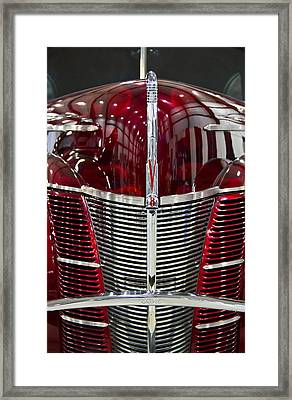 1940 Ford V8 Grill  Framed Print