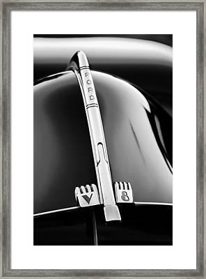 1940 Ford V8 Hood Ornament -323bw Framed Print by Jill Reger