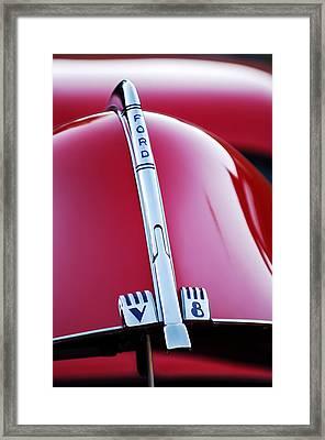 1940 Ford V8 Hood Ornament -323c Framed Print by Jill Reger