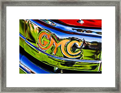 1940 Gmc Pickup Truck Emblem Framed Print by Jill Reger