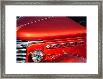 1940 Gmc Side Emblem -0378c Framed Print