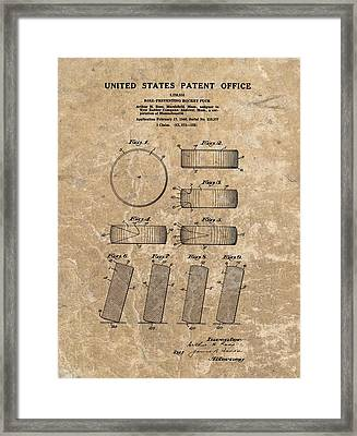 1940 Hockey Puck Patent Framed Print