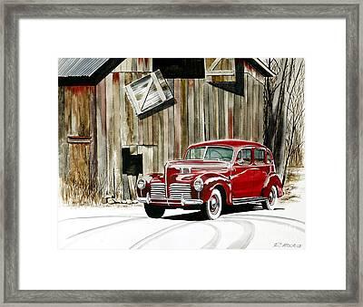 1940 Hudson And Barn Framed Print by Rick Mock