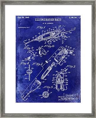 1940 Illuminated Bait Patent Drawing Framed Print