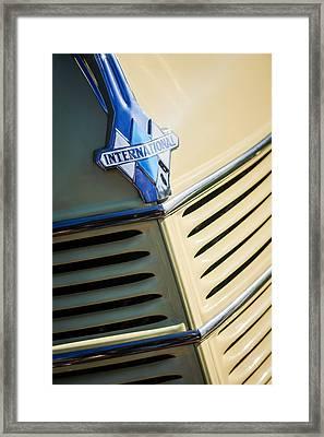 1940 International D-2 Station Wagon Grille Emblem Framed Print