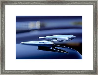 1940 La Salle Hood Ornament Framed Print by Jill Reger