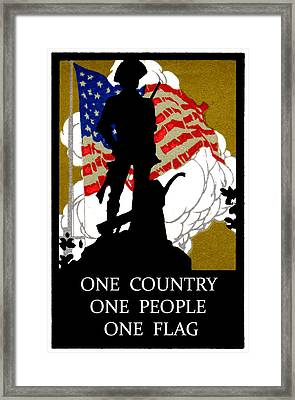 1940 One Country Framed Print by Historic Image