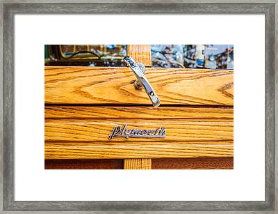 1940 Plymouth Deluxe Woody Wagon Emblem Framed Print