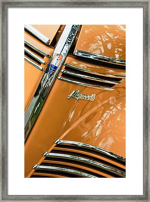 1940 Plymouth Deluxe Woody Wagon Grille Emblems Framed Print by Jill Reger