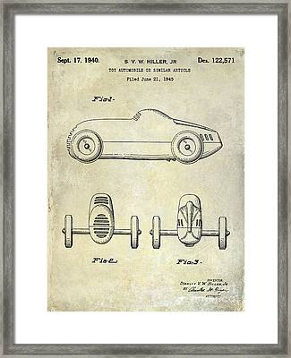1940 Toy Car Patent Drawing Framed Print by Jon Neidert