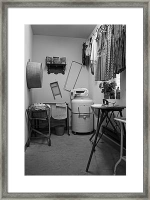 1940ish Laundry Room Framed Print by Thomas Woolworth