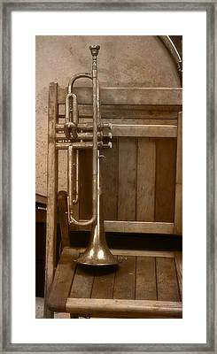 1940ish Trumpet Framed Print by Thomas Woolworth