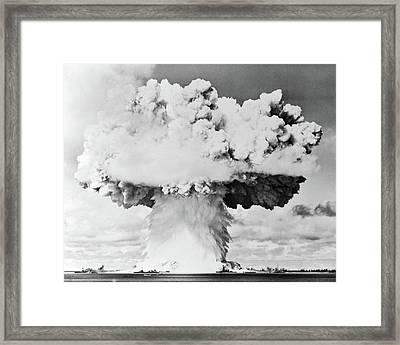 1940s 1950s Atomic Bomb Blast Mushroom Framed Print