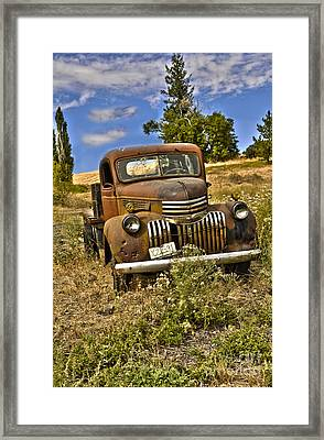 1940's Chevy Truck Framed Print by Camille Lyver