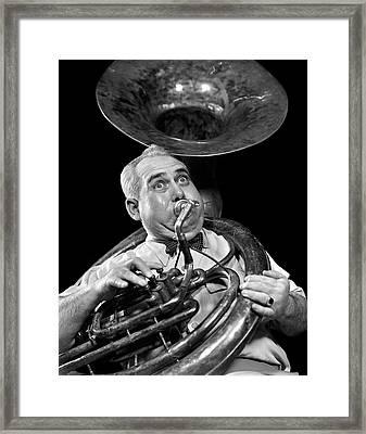 1940s Chubby Man Musician With Polka Framed Print