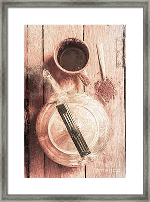 1940s Coffee Shop Stop Framed Print
