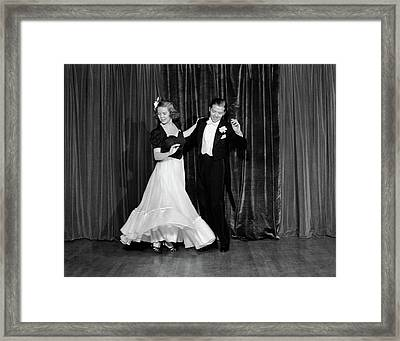 1940s Couple Man And Woman In Formal Framed Print
