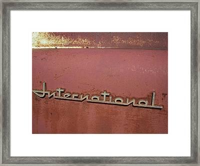 1940s Era International Harvester Truck Insignia Framed Print by Daniel Hagerman