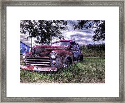 1940s Ford Super Deluxe 8 Framed Print by Micah Goff