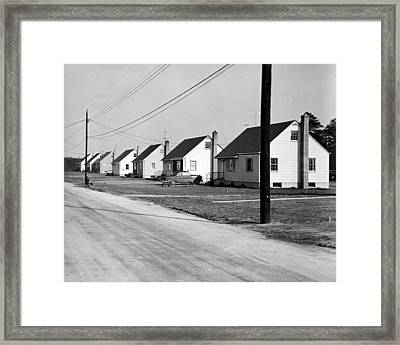 1940's Housing Development Framed Print