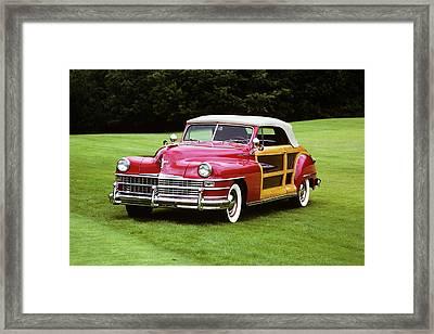 1940s Red 1948 Chrysler Town Framed Print
