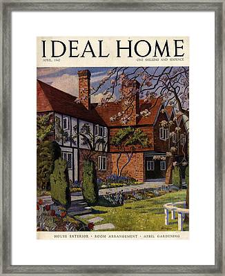 1940s Uk Ideal Home Magazine Cover Framed Print by The Advertising Archives