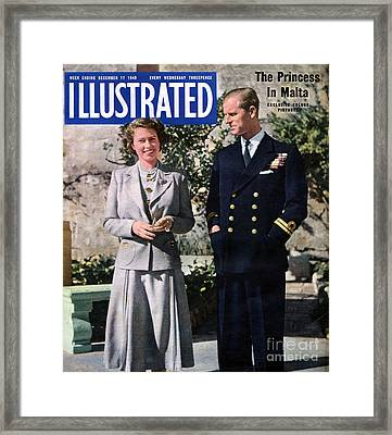 1940s Uk Illustrated Magazine Cover Framed Print by The Advertising Archives