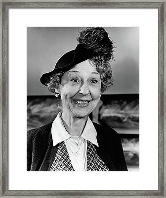 1940s Woman With Happy Expression Framed Print
