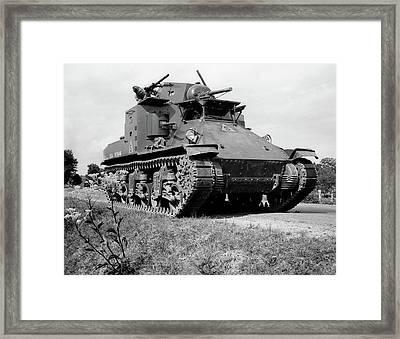1940s World War II Era Us Army Tank One Framed Print