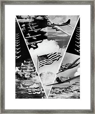 1940s World War II Victory In The Air Framed Print
